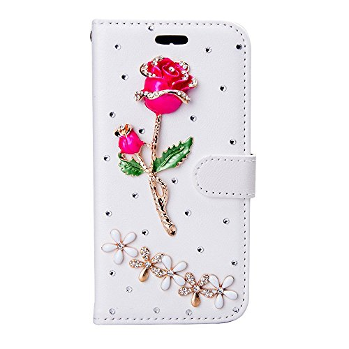 HTC Desire 610 Case, Mellonlu Luxury Handmade 3D Bling PU Leather Flip Wallet Credit Card Cover Case for HTC Desire 610