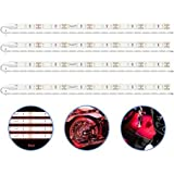 Pryeu Red (620-630nm) LED Strip Lights 12V Waterproof for Auto Car Truck Boat Motorcycle Interior Lighting 12'' 30CM…