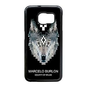 caso Edge Marcelo Burlon O7N72O3GF funda Samsung Galaxy S6 funda COSWYX negro