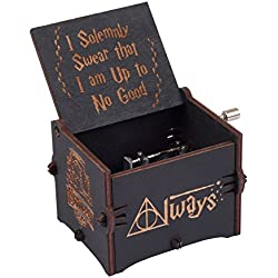 Enjoy The Wood Hedwig's Theme Harry Potter Music Box Wooden Personalised Magic Hogwarts Hand Cranked Movement