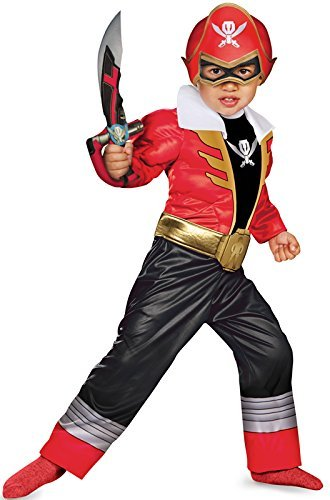 Disguise Saban Super MegaForce Power Rangers Red Ranger Toddler Muscle Costume, Small/2T by (Saban Super Megaforce Power Rangers Muscle Costume)