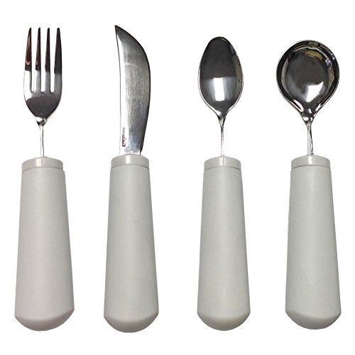 Kinsman Classic Weighted Utensils : Utensil Set ( 1 of each), White by Active Forever