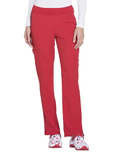 HeartSoul Women's HS020'' Drawn To Love Low Rise Pull-On Cargo Pant- Red- Large by HeartSoul Scrubs (Image #1)