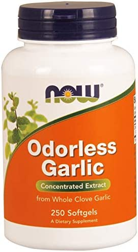 NOW Foods Odorless Garlic – 250 Softgels