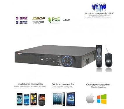 IP – Grabador de 16 Cámaras de vigilancia de 16 canales NVR POE + puertos –