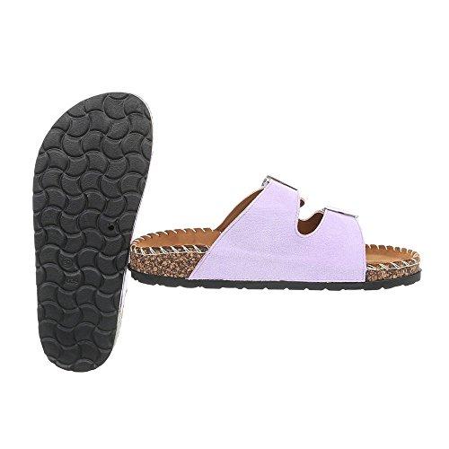 Chaussures Ck01 Mules Plat Femme Ital Violet Sandales Design W85BqwwUgx