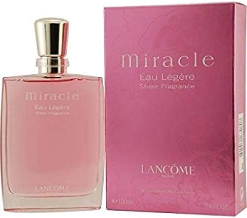 Lancome Miracle Eau Legere Sheer Fragrance 100 ml (1er Pack): Amazon.es: Belleza