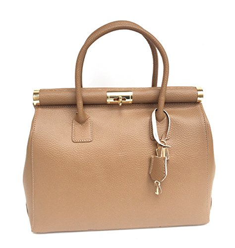 Taupe Alina Vera A Donna Italy Superflybags In Pelle Mano Classic Bauletto Borsa Made Modello q6OWxwz1R