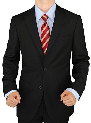 Presidential Giorgio Napoli Men's 2 Button Suit Separate Coat Blazer (40 Short US, Black)