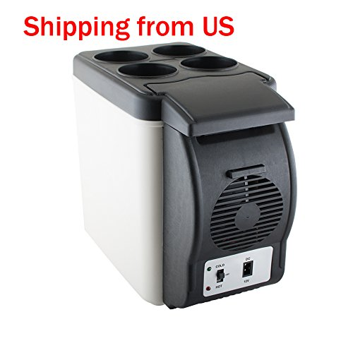 Vinmax Mini Car Refrigerator, Portable Auto Car Freezer Cooler Warmer 6L Electric Fridge Icebox Travel Refrigerator Cooler Box 12V for Truck Party, Travel, Picnic Outdoor, Camping, Home, Office by vinmax