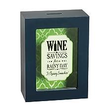 Cypress Home Wine Savings Wooden Shadow Box Bank