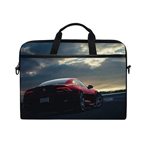 - Fisker Karma Car Sunset Night%c2% a0sky Red Laptop Shoulder Messenger Bag Case Sleeve for 14 Inch to 15.6 Inch with Adjustable Notebook Shoulder Strap