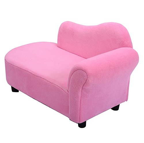 Pink Kids Sofa Pink Princess Style Bedroom Living Room Home Furniture Decoration Strong Wooden Frame Armchair Armrest Chair Couch Lounge Sleeper Coral Fleece Indoor Outdoor Use Children Toddler Gift (Children's Outdoor Wooden Furniture Australia)