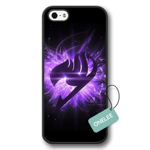 Onelee(TM) Fairy Tail Logo iPhone 5 Case & Japanese Anime iPhone 5S Cover - Black03