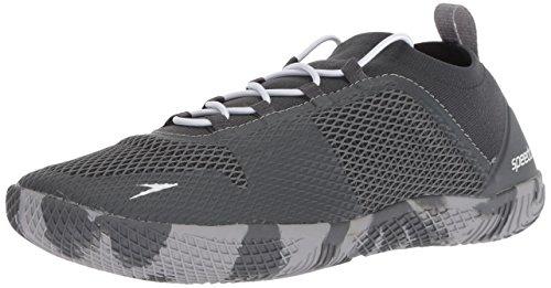 Speedo Men's Fathom AQ Fitness Water Shoes, Dark Heather Grey, 13 US