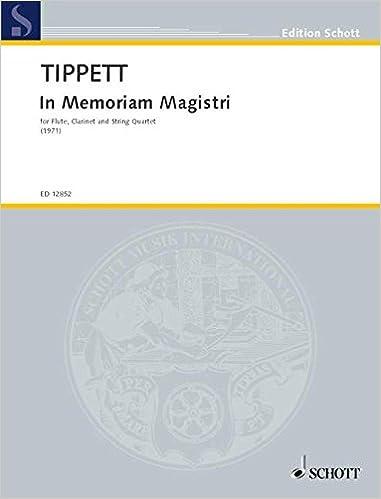 Téléchargement de livres électroniques gratuits In Memoriam Magistri - flûte, clarinette et quatuor à cordes - Partition - ED 12852 in French MOBI