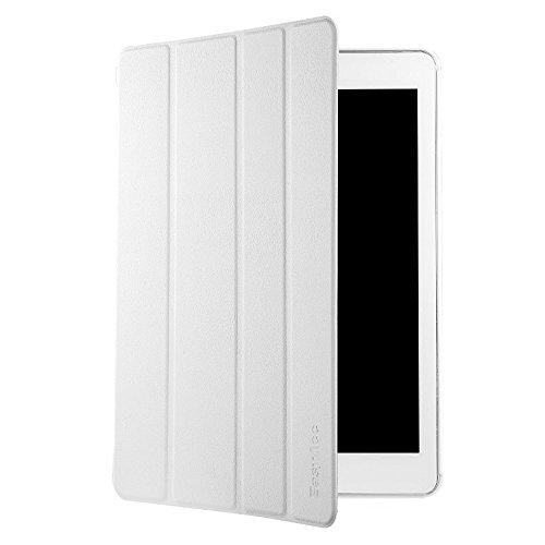 EasyAcc iPad Air 2 Smart Case Ledertasche Schutzhülle Bumper Hüllen Tasche Leder Hülle Ultra Slim Lederhülle Flip Case Etui mit Standfunktion / Auto Sleep Wake up für iPad Air 2 / ipad 6 - Weiß, Ultra Slim