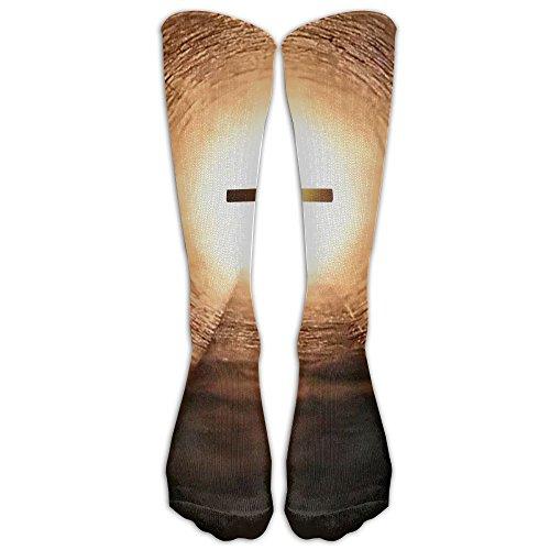Christian Light Cross Athletic Tube Stockings Women's Men's Classics Knee High Socks Sport Long Sock One Size
