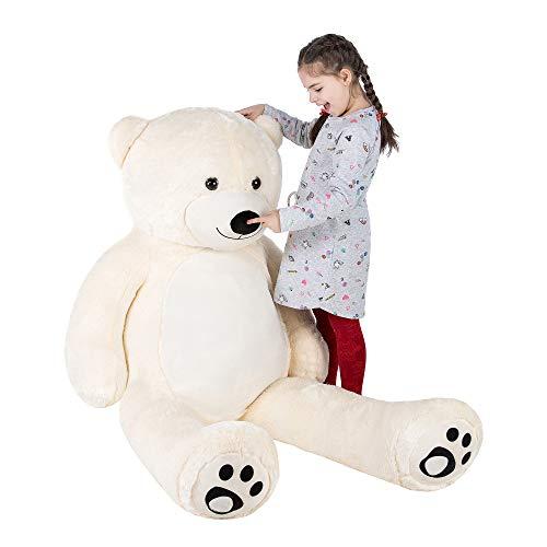 WOWMAX Giant Huge Teddy Bear Cuddly Stuffed Plush Animals Daney Life Size 6 Foot Teddy Bear Toy Doll Ivory 72 Inches