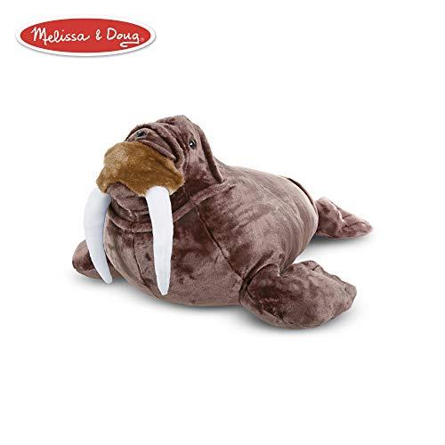 Melissa & Doug Giant Walrus - Lifelike Stuffed Animal (nearly 3 feet long) (Walrus Plush Stuffed Animal)