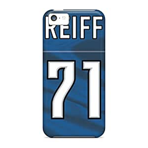 Best Cell-phone Hard Cover For Iphone 5c With Unique Design Colorful Detroit Lions Series DustinFrench