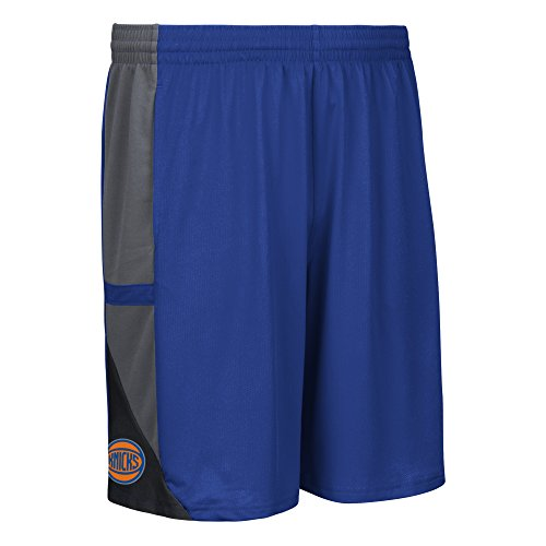 fan products of NBA New York Knicks Men's Tip-Off Mesh Shorts, Xx-Large, Blue