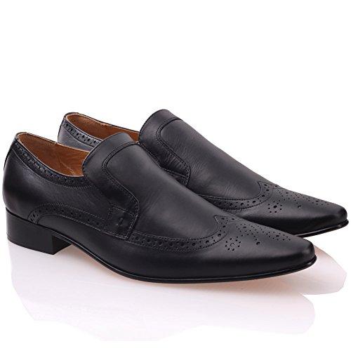 'niva' Unze All Style Nero Da Ufficio Mens Formale Leather Scarpe Oxford Abito r45rq