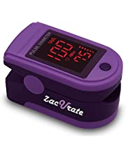Zacurate Pro Series 500DL Fingertip Pulse Oximeter Blood Oxygen Saturation Monitor With Silicon Cover, Batteries & Lanyard (Royal Violet) - Made Exclusively for Amazon.com