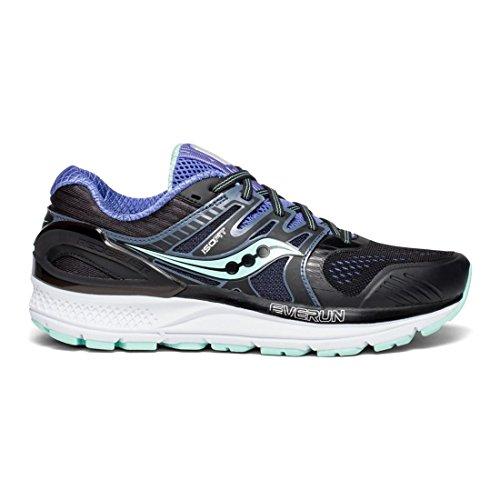 Saucony Women's Redeemer Iso 2 Running Shoe, Black/Aqua/Violet