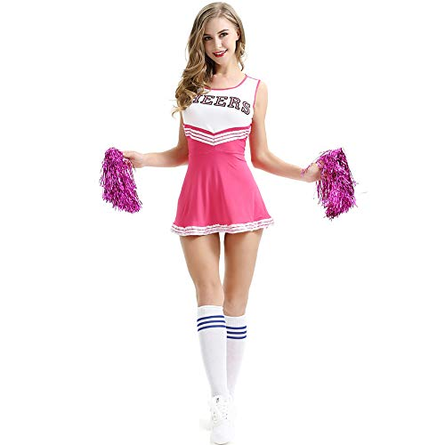 Women's Erotic Underwear Cosplay Sexy Football Baby Cheerleading Costume Ladies' Uniforms Sexy Lingerie Xs-XXL,Pink,XS]()