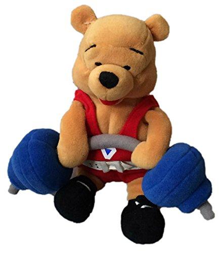 Weightlifting Winnie the Pooh Bean Bag Plush 8