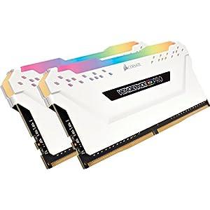 Corsair Vengeance RGB PRO 16GB (2x8GB) DDR4 3000MHz C15 LED Desktop Memory, White