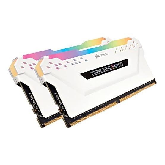 Corsair Vengeance RGB PRO 16GB (2x8GB) DDR4 3000MHz C15 LED Desktop Memory, White 41iU5vqzvbL. SS555