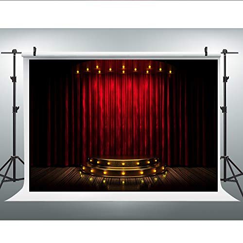 Maijoeyy 7x5ft Red Carpet Backdrop Gorgeous Palace Photography Backdrops Red Carpet Lighting Stage Background Photo Studio Props YJC-323901509-D1 from Maijoeyy