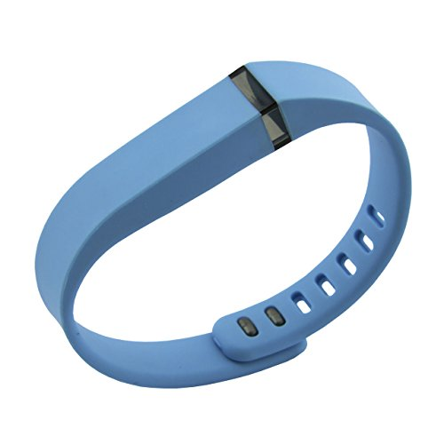 Multi Color Wristband (Wearable4U Multi Color Replacement Wristband Wrist Band with Metal Clasp for Fitbit Flex (No Tracker, Band only) Sky Blue,)