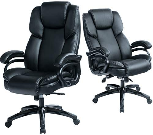 Kasorix Office Chair Big and Tall High Back Desk Chair,Adjustable Swivel PU Leather Task Chair