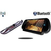 Tadibrothers 7 Inch Mirror with Bluetooth and Wireless Steel CCD License Backup Camera