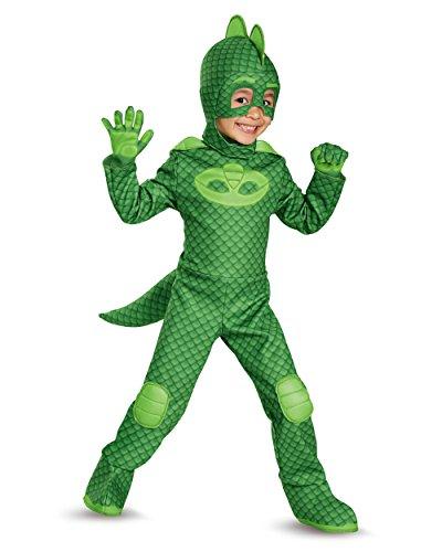 Catboy Costume Pj Masks (Gekko Deluxe Toddler PJ Masks Costume, Large/4-6)