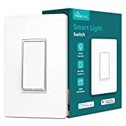 #LightningDeal Single Pole Treatlife Smart Light Switch?Neutral Wire Required), 2.4Ghz Wi-Fi Light Switch, Works with Alexa and Google Assistant, Schedule, Remote Control, Single Pole, ETL Listed (1 PACK)
