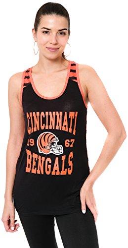 NFL Jacksonville Jaguars Ultra Game Womens MESH RACERBACK TANK Team Color Large