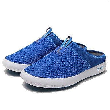 Zapatos de hombre exterior / oficina / Carrera / Casual Mocasines de tul negro / azul / gris Negro