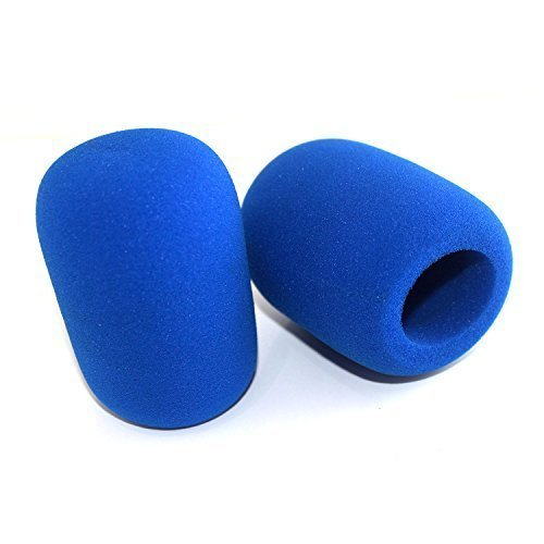 Blue Windscreen (ZRAMO Th52 Blue Foam Ball-type Mic Windscreen, 2pc Pack-ideal for CAD U37 and other Ball-type Mics)