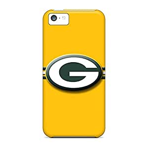BRAOE Iphone 5c Provide Private Custom Attractive Green Bay Packers Pattern Anti-Scratch Hard Cell-phone Case -
