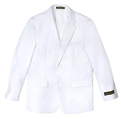 Spring Notion Big Boys' Two Button Blazer White 07 (Blazer Boys High)