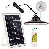 Solar Pendant Lights,ESANDA Waterproof Solar Bright Lamp with Remote Lighting Color Adjustable Barn LED for Garden Yard Shed Garage Camp