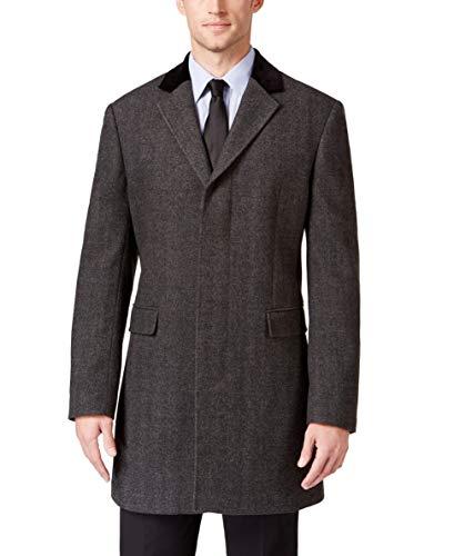 RALPH LAUREN Men's LRIG02EBMO10 Luxury Topcoat - Grey - 44R