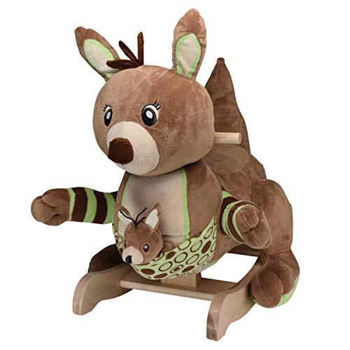 Baby Rocker, Educational, Fun Toys All Wrapped Up in Roo Roo The Kangaroo Rocking Chair Engraved with Your Child's Name in Choice of Colors