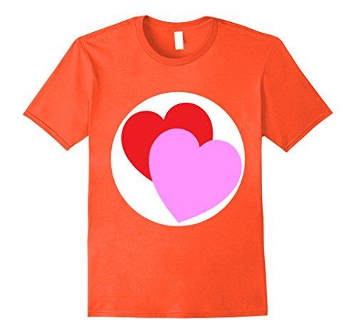 Mens Care Double Heart Bears Halloween Group Costume TShirts 2XL (Orange Care Bear)