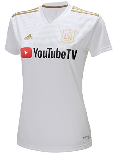 adidas LAFC 2018 Away Womens Jersey- White/Gold L by adidas