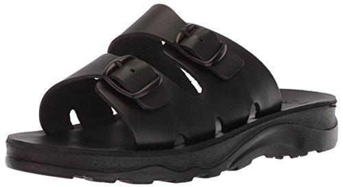 Jerusalem Sandals Mens The Good Shepherd Molded Footbed Slide Sandal Black